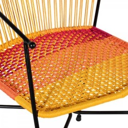 Costa  Garden Dining Chairs - Multicoloured Seat Detail