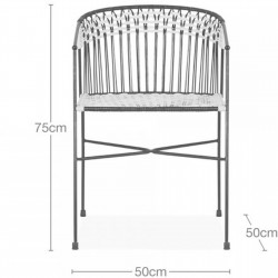 Costa  Garden Dining Chairs - Dimensions
