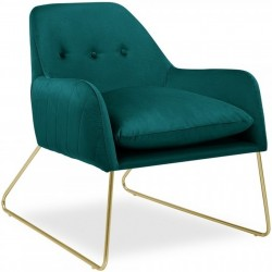Lombard Cece Fabric Upholstered Armchair - Teal