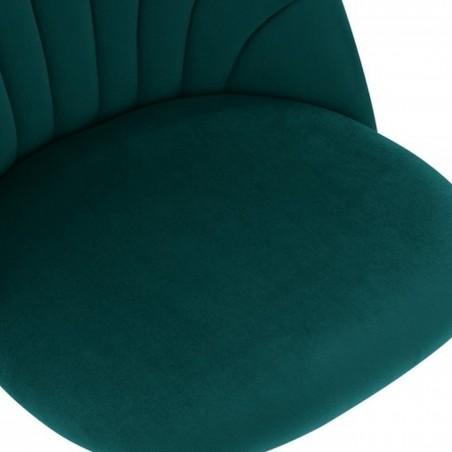 Stellia Velvet Dining Chair - Teal Seat Detail