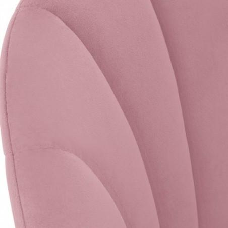 Stellia Velvet  Dining Armchair - Blossom Pink Back Detail