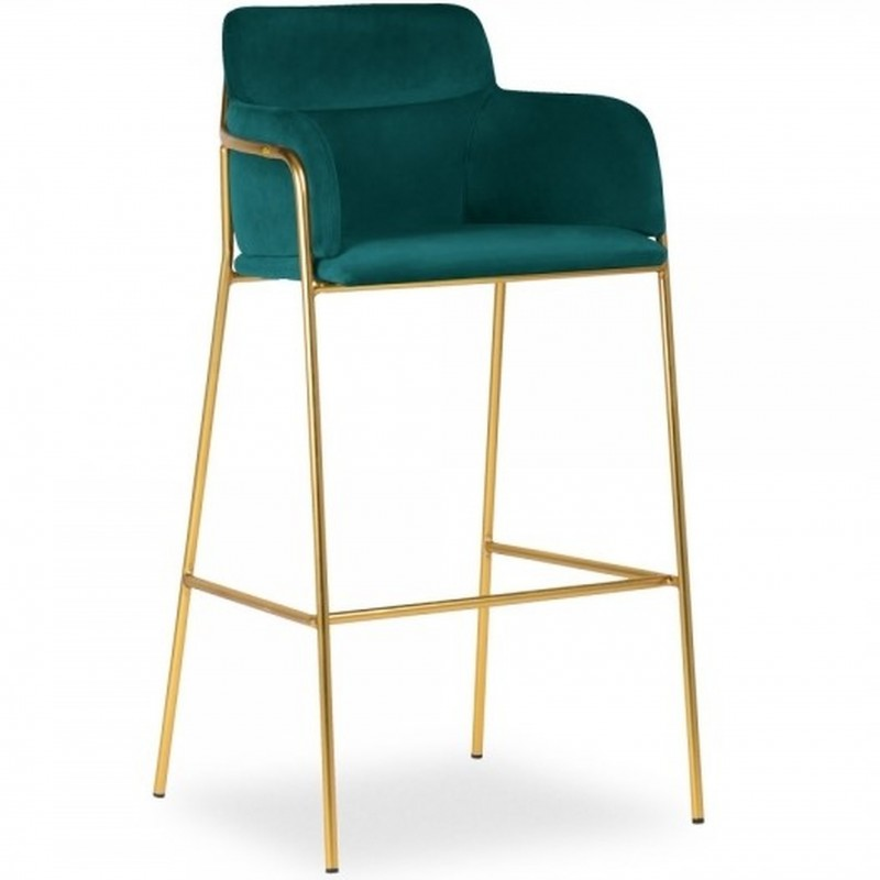 Esmond Velvet Bar Stool - Teal