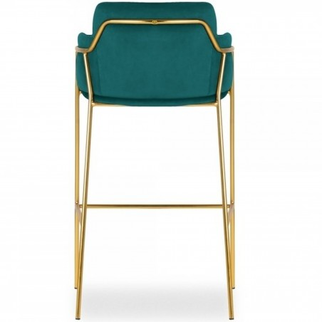 Esmond Velvet Bar Stool - Teal Rear View