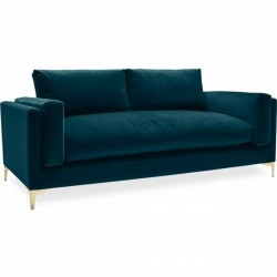 Burnham Two Seater Velvet Sofa - Teal