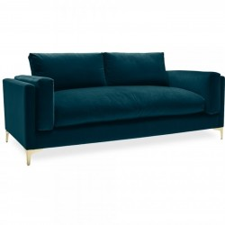 Burnham Three Seater Velvet Sofa - Teal