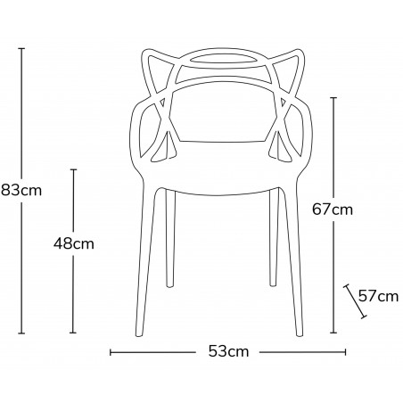 Harrow Masters Style Arm Chair - Dimensions