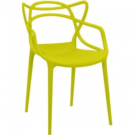 Harrow Masters Style Arm Chair - Mustard Green