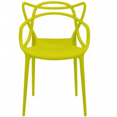 Harrow Masters Style Arm Chair - Mustard Green Front View