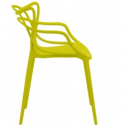 Harrow Masters Style Arm Chair - Mustard Green Side View