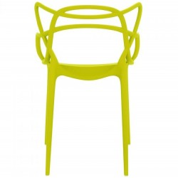 Harrow Masters Style Arm Chair - Mustard Green Rear View