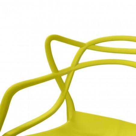 Harrow Masters Style Arm Chair - Mustard Green Design Detail