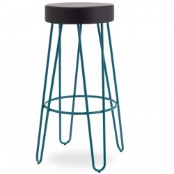 Jessie Faux Leather Seat 76cm Bar Stool - Teal