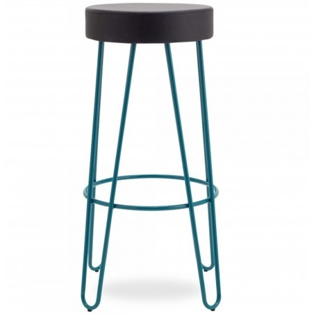 Jessie Faux Leather Seat 76cm Bar Stool - Teal Front View