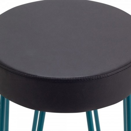 Jessie Faux Leather Seat 76cm Bar Stool - Teal Seat Detail