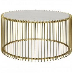 Elsia Round Birdcage Coffee Table - Brass