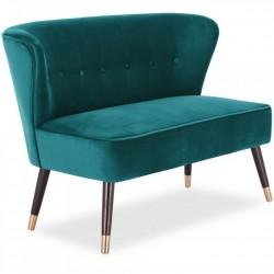 Pensilva Two Seater Velvet Sofa - Teal