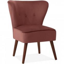 Pensilva Velvet  Accent Chair - Rose Pink