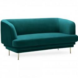 Stolford Velvet Two Seater Sofa - Teal