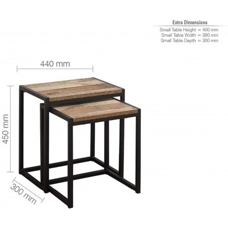 Camden Urban Nest of Tables - Dimensions
