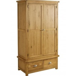 Coleby 2 Door 2 Drawer Wardrobe, angle view