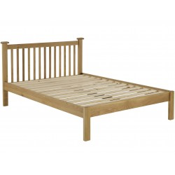 Coleby Solid Oak Bed frame, angle view