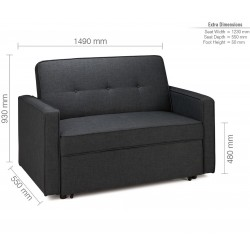 Otter Medium Sofa Bed - Dimensions