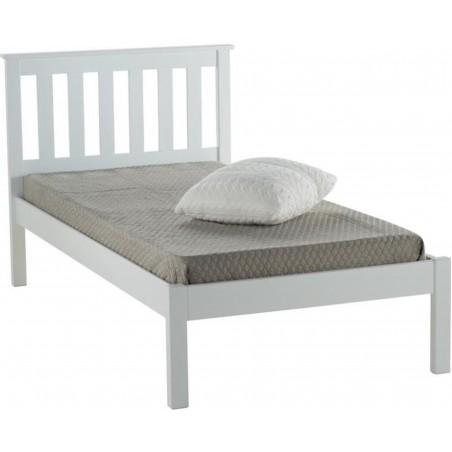 Denbar Wooden Bed Frame Single White