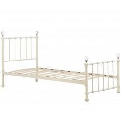 Jess Vintage Style Single Bed Angled View