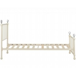 Jess Vintage Style Single Bed Side View