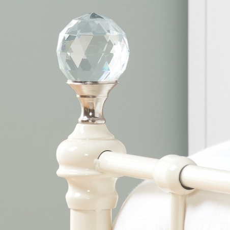 Jess Vintage Style Single Bed Finial Detail