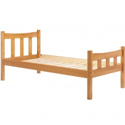 Miami Wooden Bed Frame- Single Angled View