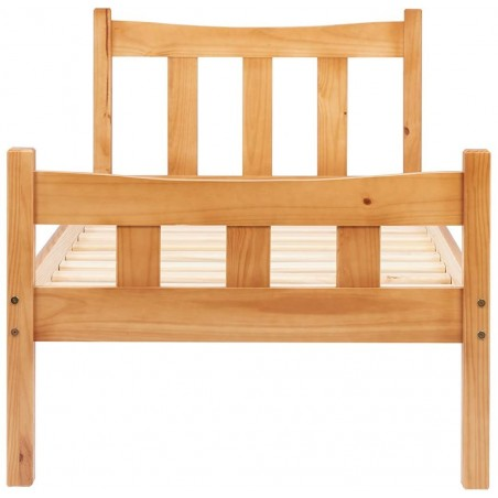 Miami Wooden Bed Frame- Single Front View