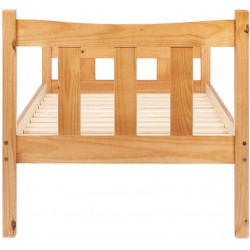 Miami Wooden Bed Frame- Single Rear View