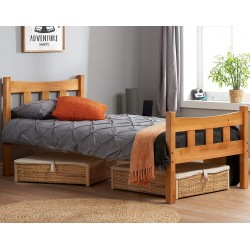 Miami Wooden Bed Frame- Single Mood Shot