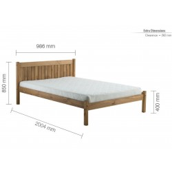 Palmetto Wooden Bed Frame Single Pine Single Dimensions