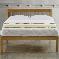 Pavuna Wooden Bed Frame - Double Front View