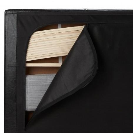 Bayen Faux Leather Ottoman Bed - Black Transport Storage