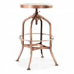 toledo swivel screw nut copper metal bar stool