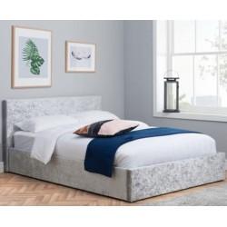 Bayen Fabric Upholstered Ottoman Bed - Steel mood shot