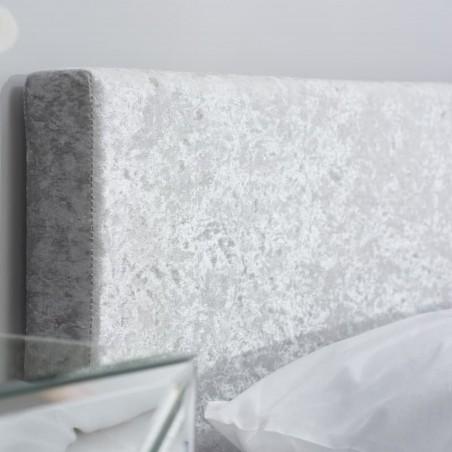 Bayen Fabric Upholstered Ottoman S Bed - Steel Headboard detail