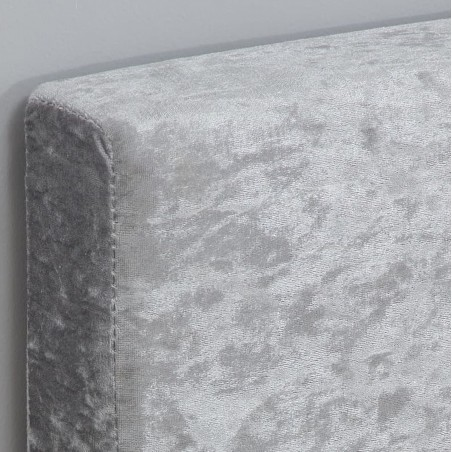 Bayen Fabric Upholstered Ottoman Bed - Steel Fabric Detail