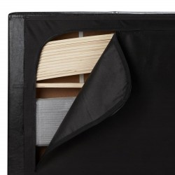 Bayen Fabric Upholstered Ottoman Bed -  Transportation Storage