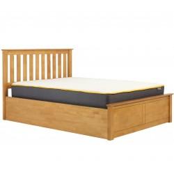Phoenix Wooden Ottoman Bed - Oak