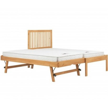 Buxton Bed with Trundle - Pine Trundle is extended