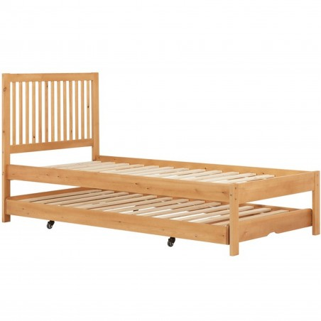 Buxton Bed with Trundle - Pine without mattress