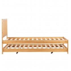 Buxton Bed with Trundle - Pine without mattress Side View
