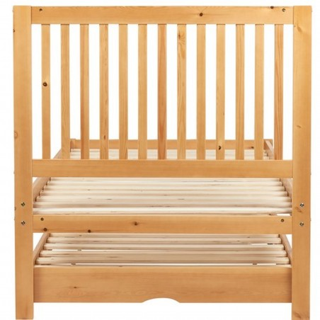 Buxton Bed with Trundle - Pine without mattress Rear View