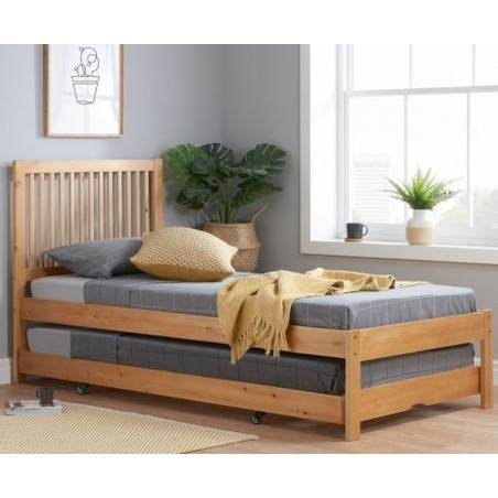 Buxton Bed with Trundle - Pine  Mood Shot