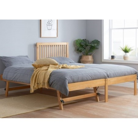 Buxton Bed with Trundle - Pine  Mood Shot Trundle Extended