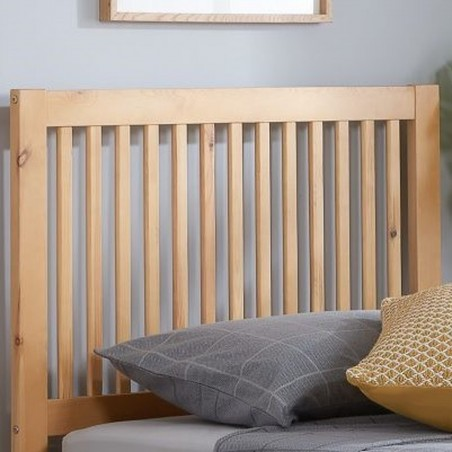 Buxton Bed with Trundle - Pine Headboard Detail